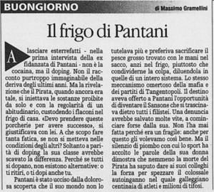 La stampa morte Pantani